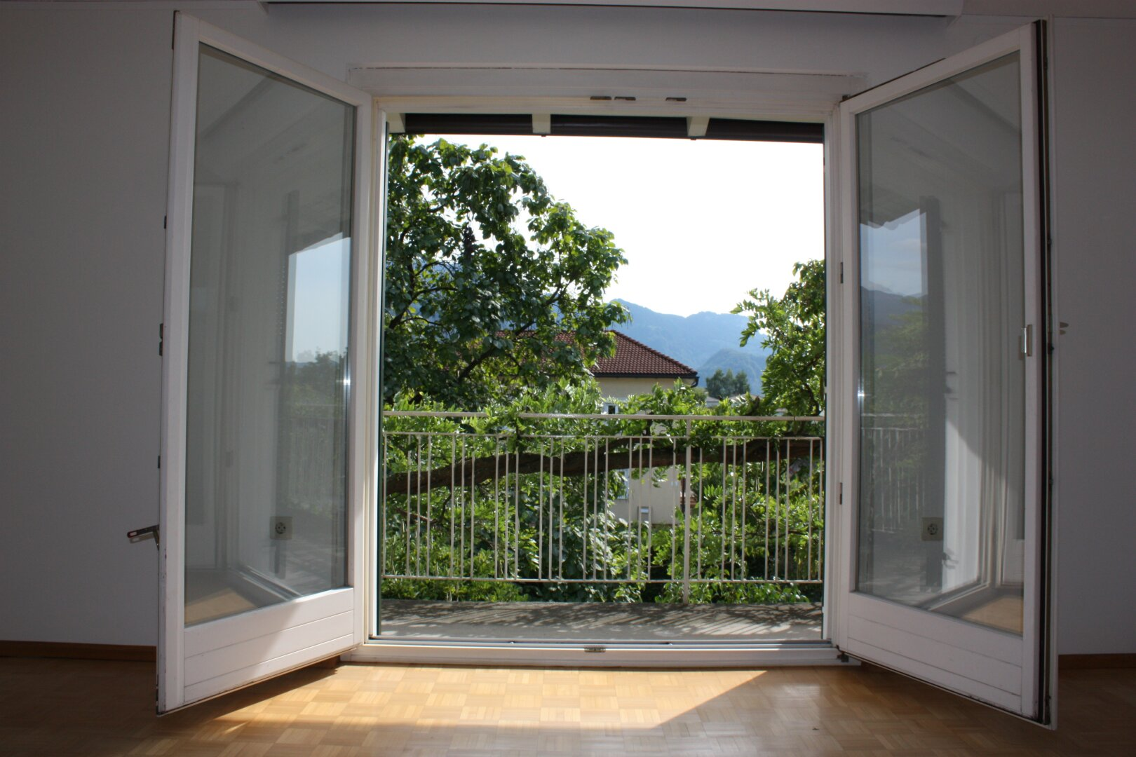 große Fensterfronten