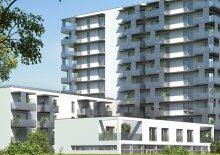 2-Zimmer-Erstbezug inkl Markenküche, 10m² Balkon Außenfläche und Kellerabteil mit Blick auf den Hirschstettner Badeteich/Z47, 47