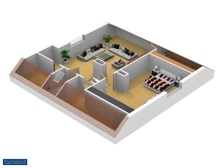 3D-Ansicht 1 Dachgeschoß