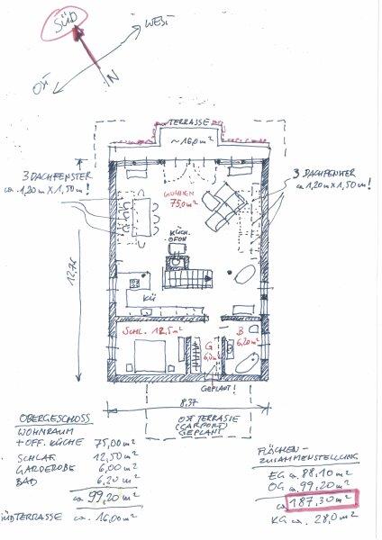 Grundriss Obergeschoss Haupthaus