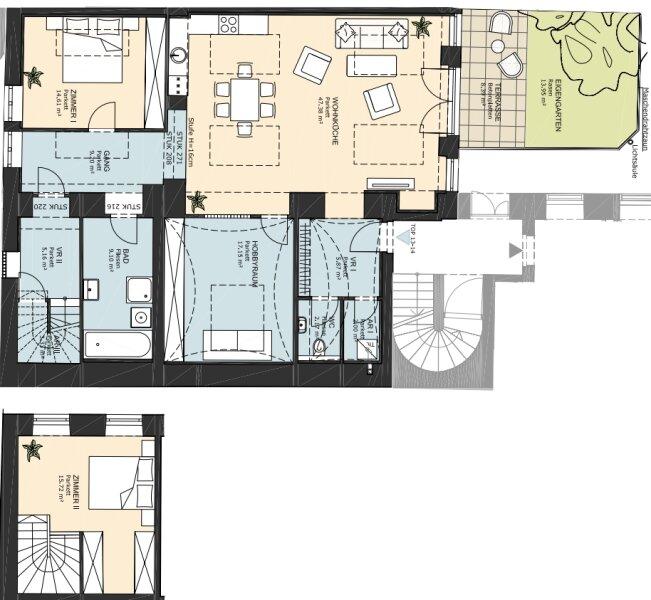 **NEU** Hofruhelage: Außergewöhnlicher EG-ERSTBEZUG, 4-Zimmer, Terrasse+Garten, charmanter Altbau! /  / 1030Wien / Bild 10