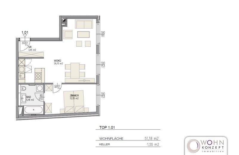 Neuwertig: hochwertiger 51m² Neubau mit Poggenpohl-Einbauküche - 1030 Wien /  / 1030Wien / Bild 8