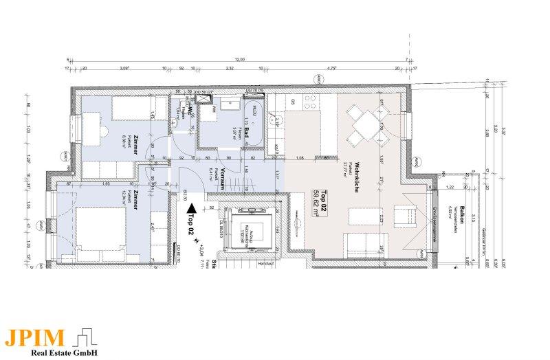 PROVISIONSFREI! Erstbezug 3-Zimmer Wohnung mit Balkon in U2 Nähe! /  / 1220Wien / Bild 3