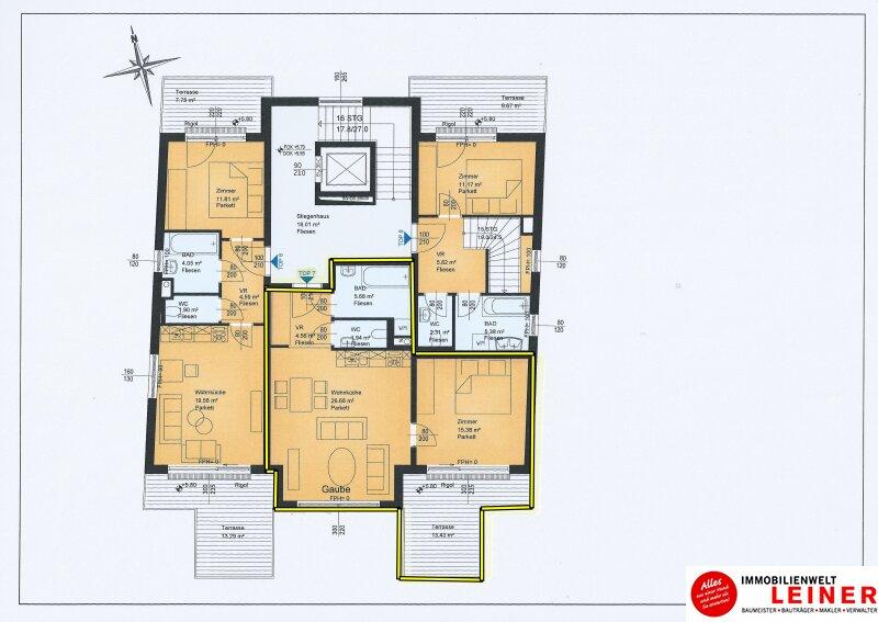 2 Zimmer Wohnung + Eigengarten + Balkon -  Oberlaa, Wohnerlebnis der Extraklasse – Schlüsselfertig – Provisionsfrei! Objekt_8799 Bild_354