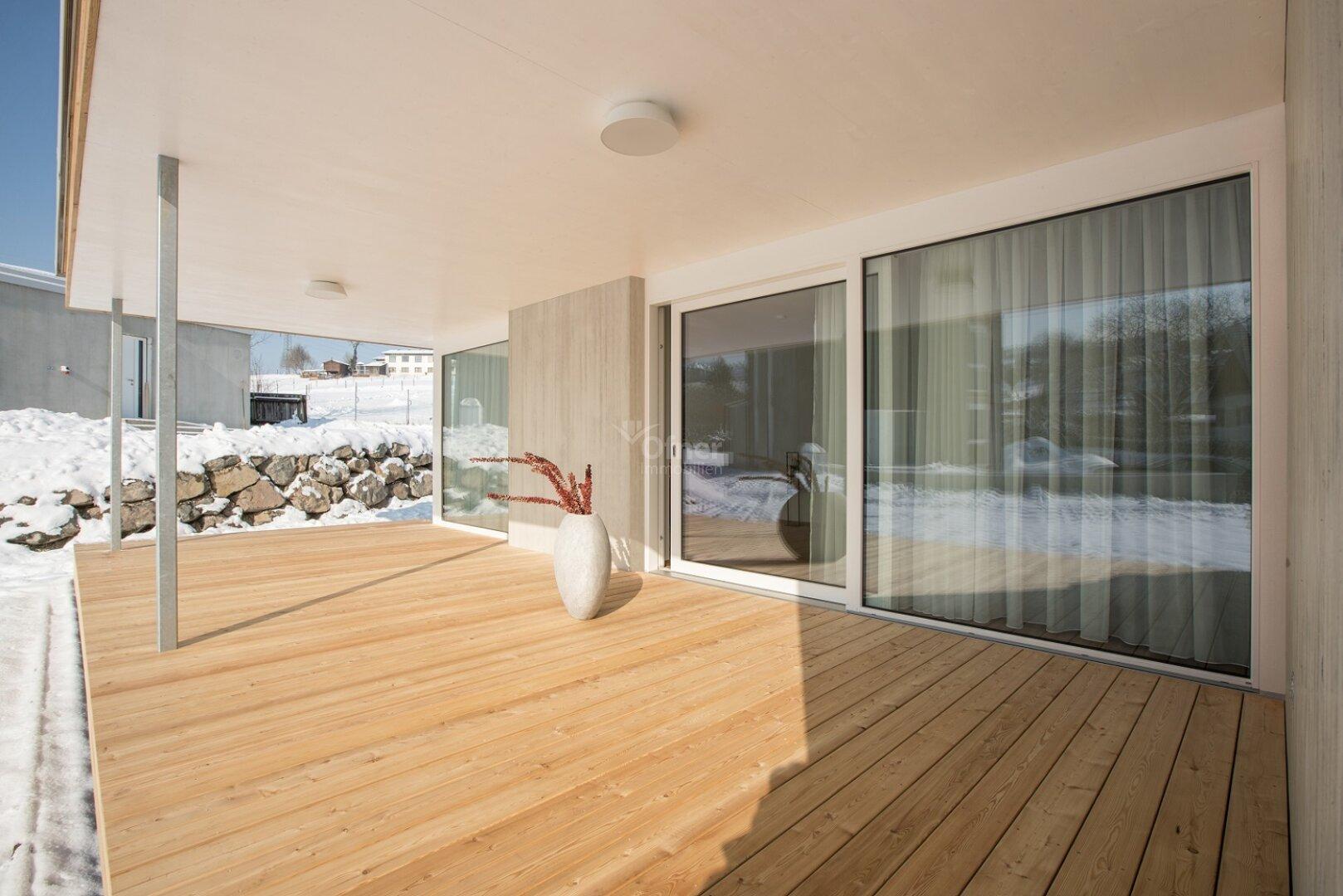 Musterhaus Terrasse