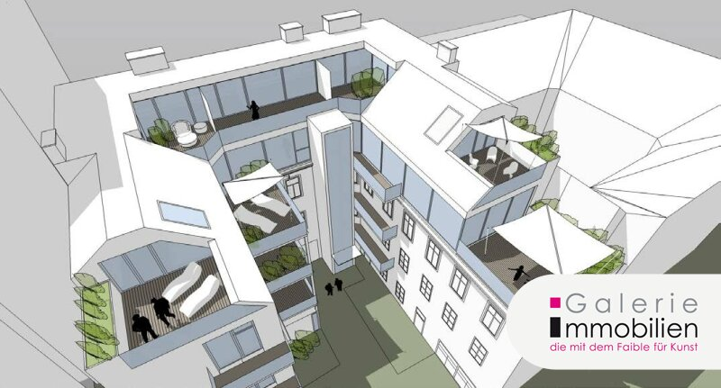Hochwertige DG-Wohnung mit großen Terrassen und Balkon in Biedermeierhaus Objekt_23662