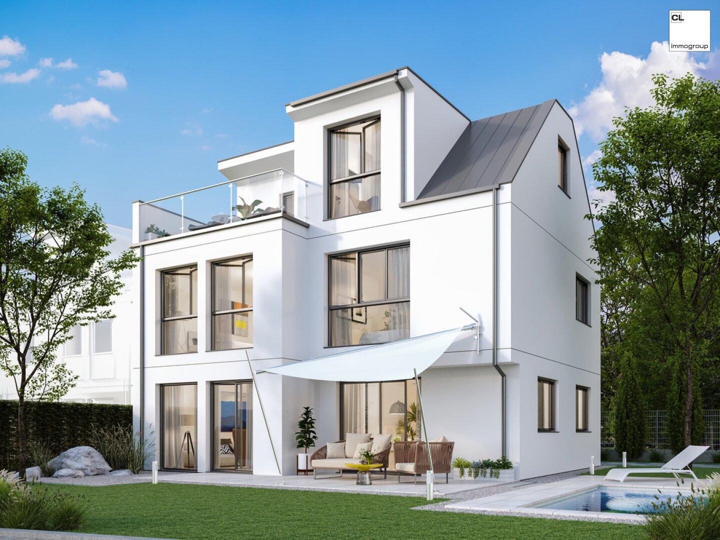 3D Außenansicht Einfamilienhaus