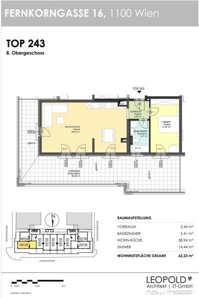 Dachterrassenwohnung (56 m² Terrasse) mit traumhaften Wienblick /  / 1100Wien / Bild 6