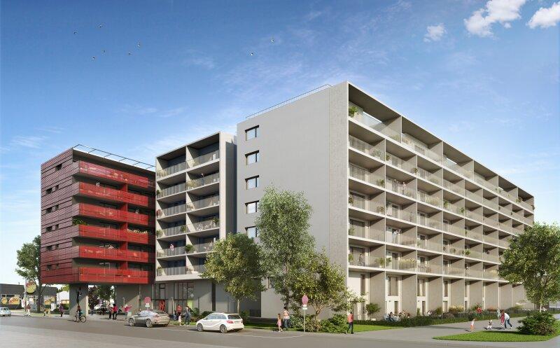 ERSTBEZUG & UNBEFRISTET: Großzügige 2-Zimmer-Wohnung im 5. Stock mit Innenhof-Loggia und Gemeinschafts-POOL am Dach - PROVISIONSFREI /  / 1230Wien / Bild 9