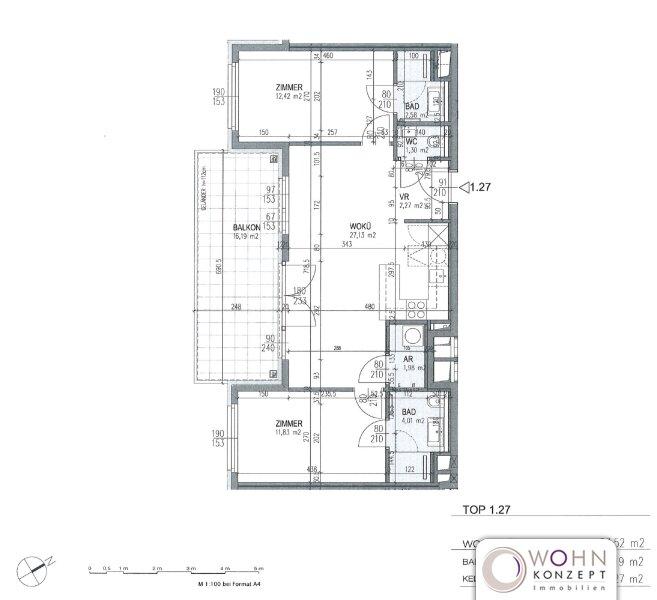 Neuwertig: Gartenseitiger 64m² Neubau + 16m² Balkon u. Topeinbauküche - 1030 Wien /  / 1030Wien / Bild 10