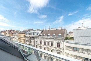 3-Zimmer Dachgeschosswohnung mit westseitiger Terrasse in der Kaiserstraße 82.