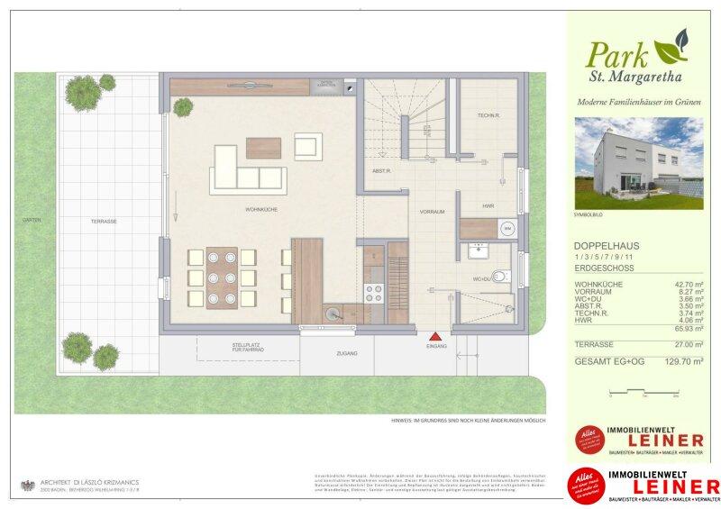 Die beste Möglichkeit Ihren Haustraum zu verwirklichen! Familienhäuser in Margarethen am Moos auf Baurecht/Wohnungseigentum Objekt_10623 Bild_503