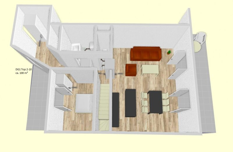 Provisionsfreier Erstbezug!! Dachgeschosswohnung mit drei Terrassen