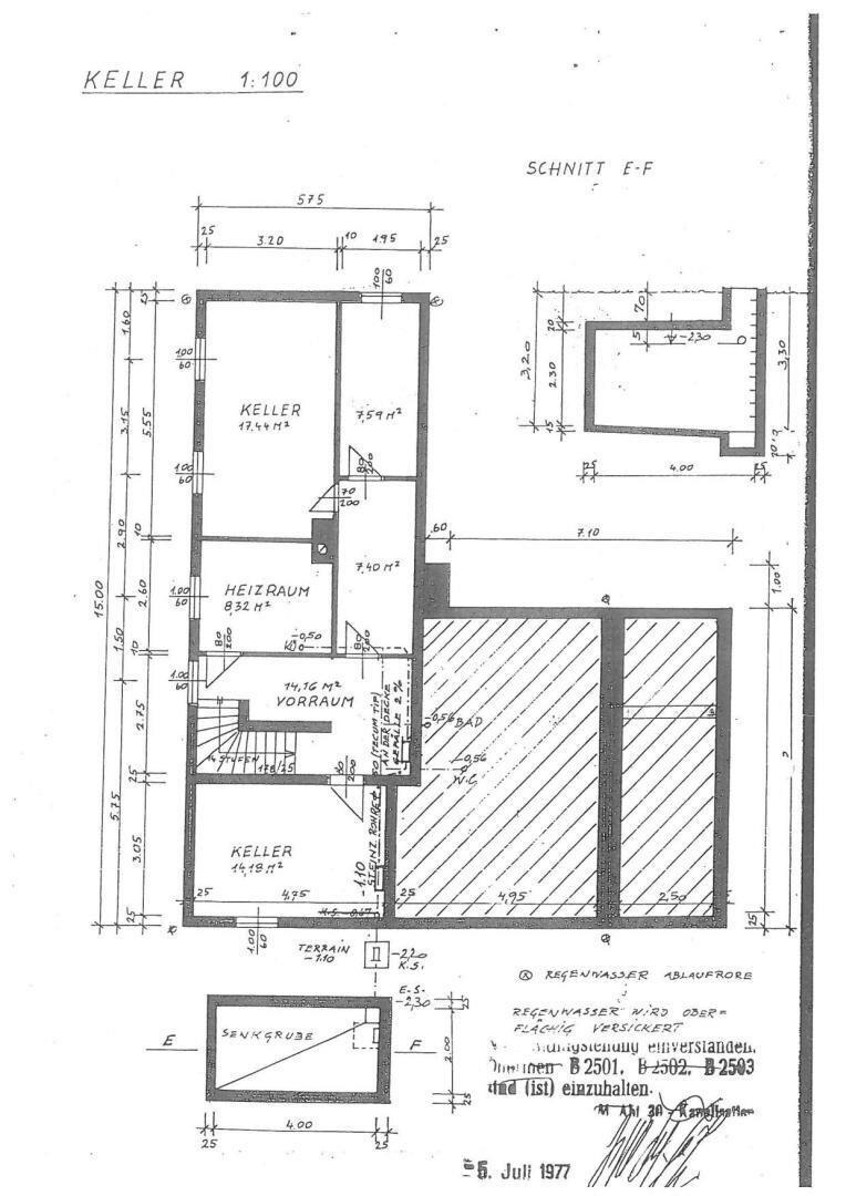 Keller-Originalplan