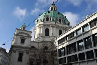 Ab 1.02.21.    2 Zimmer Wohnung neben  Karlskirche !