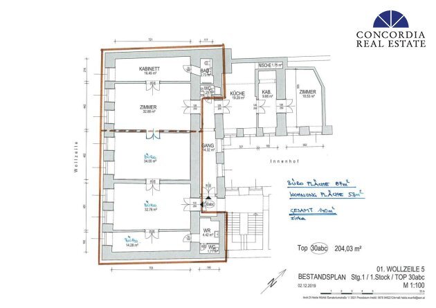 Wohnung und Büro gesamt 140 m²