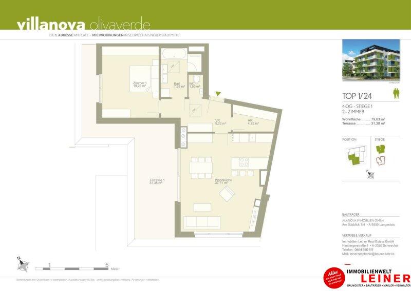 *UNBEFRISTET*Schwechat - 2 Zimmer Penthouse mit großer südseitiger Terrasse Objekt_11397 Bild_203