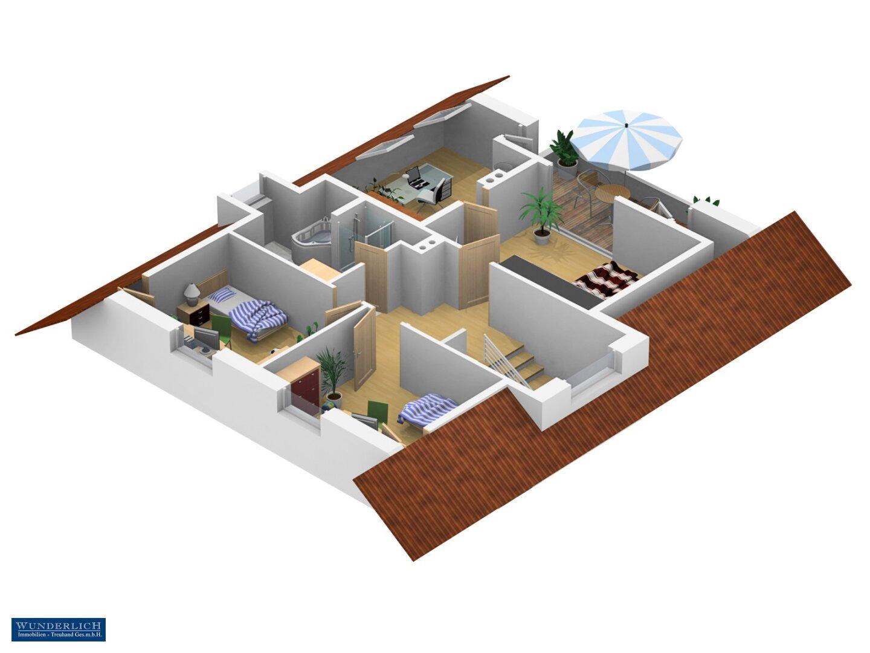 3D-Ansicht Obergeschoß