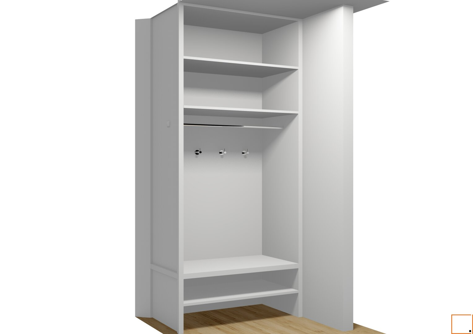 Visualisierung Garderobe Vorraum