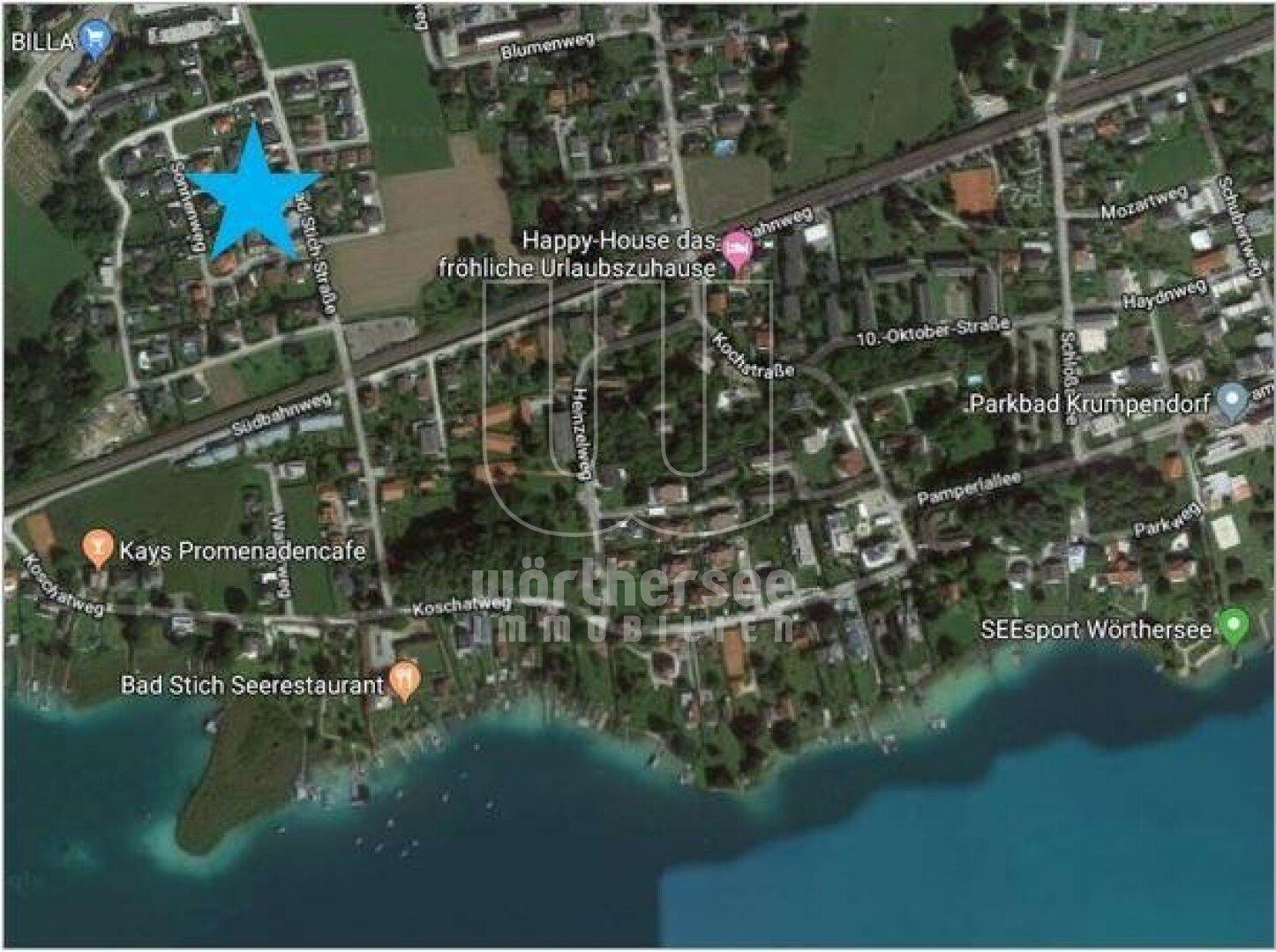 Luftbild mit Markierung