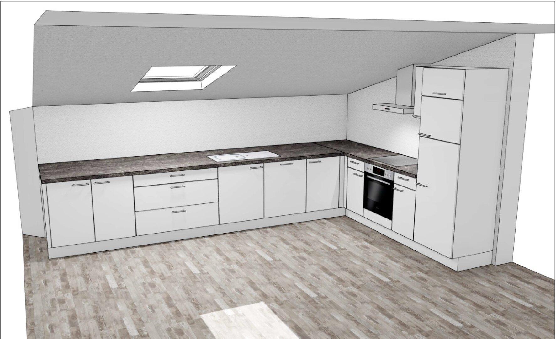 Küche wird neu eingebaut, in Bearbeitung