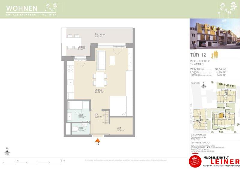 ANLEGERHIT! Erstbezug 1-Zimmer Wohnung mit Loggia & Terrasse Objekt_12078 Bild_573