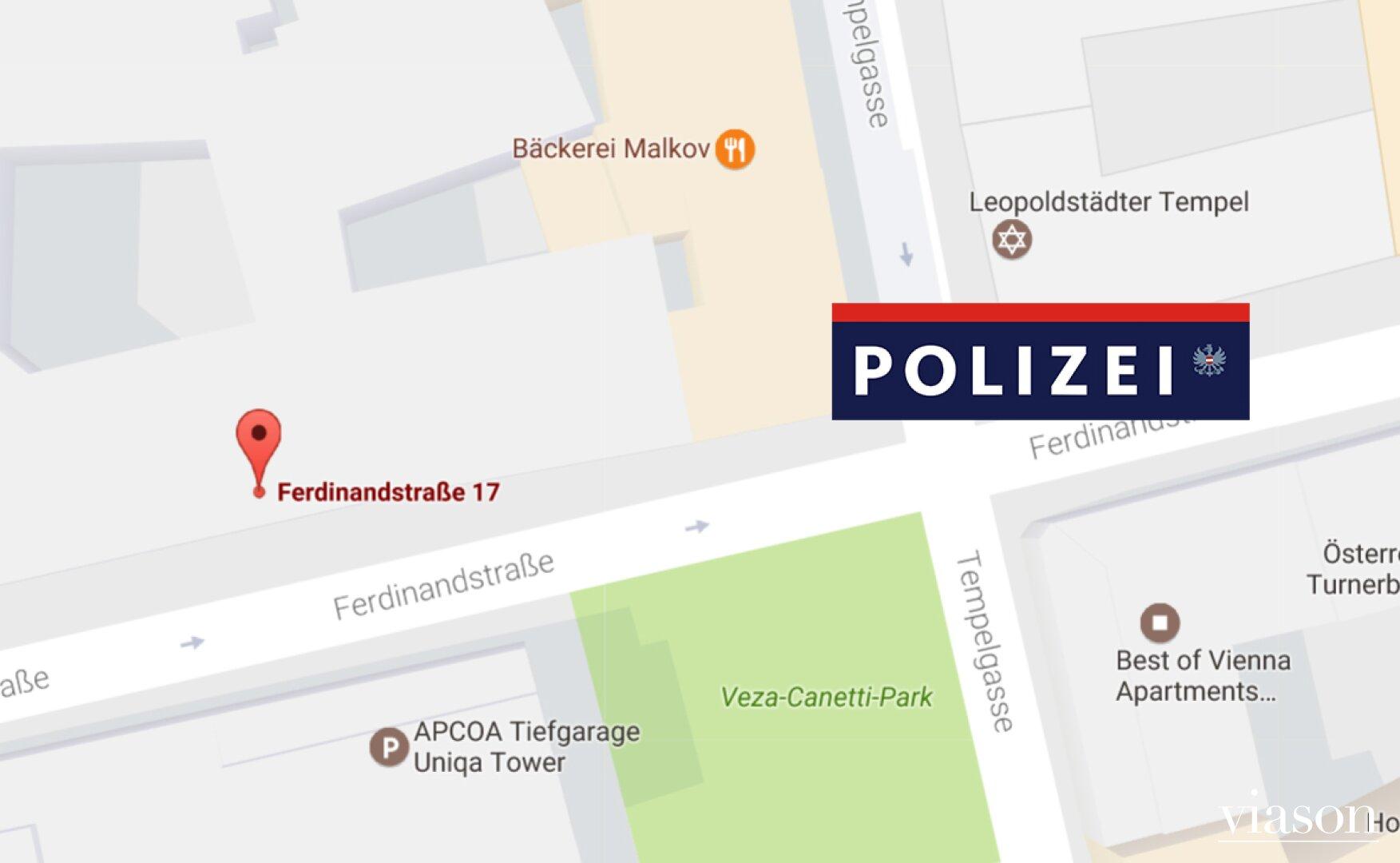 Polizei in Blickweite