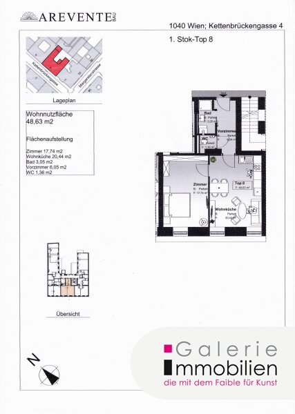 Nähe Naschmarkt - Exklusive Altbauwohnung in revitalisiertem Biedermeierhaus - SW-Ausrichtung Objekt_31845 Bild_386