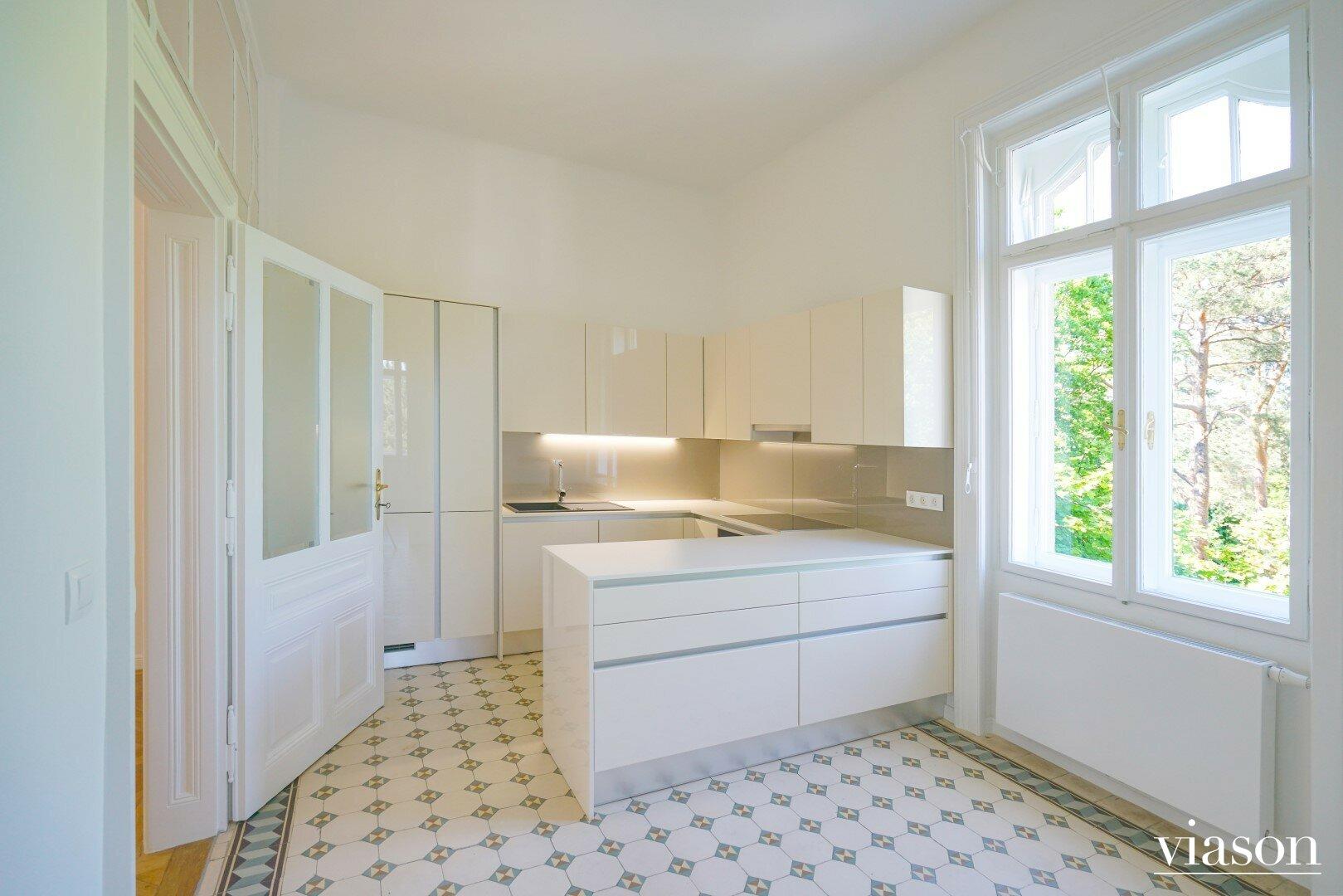Küche einer Altbauwohnung
