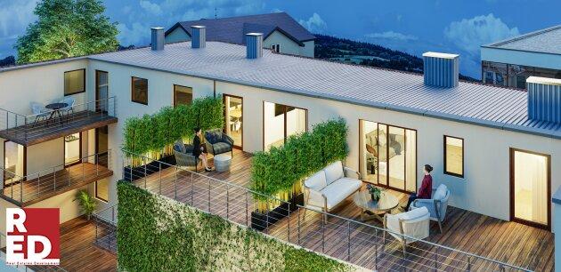 Urban Living mit grandioser Terrasse.