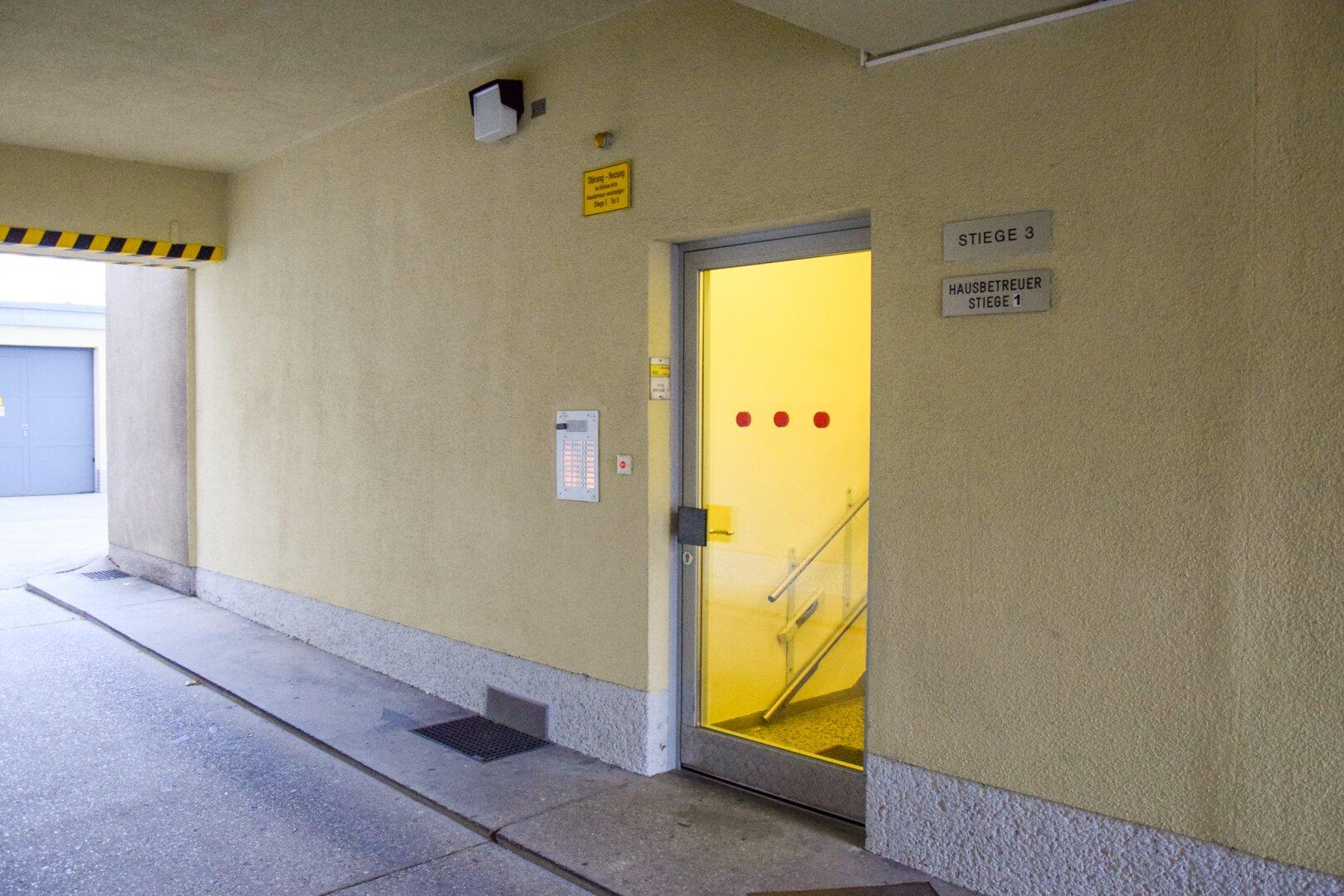 Eingangsbereich Stiege 3
