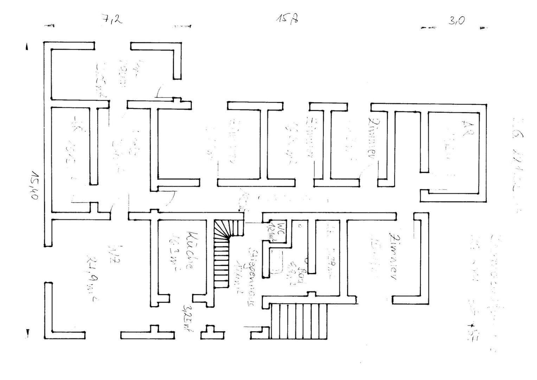 Plan Erdgeschoß Zweifamilienhaus
