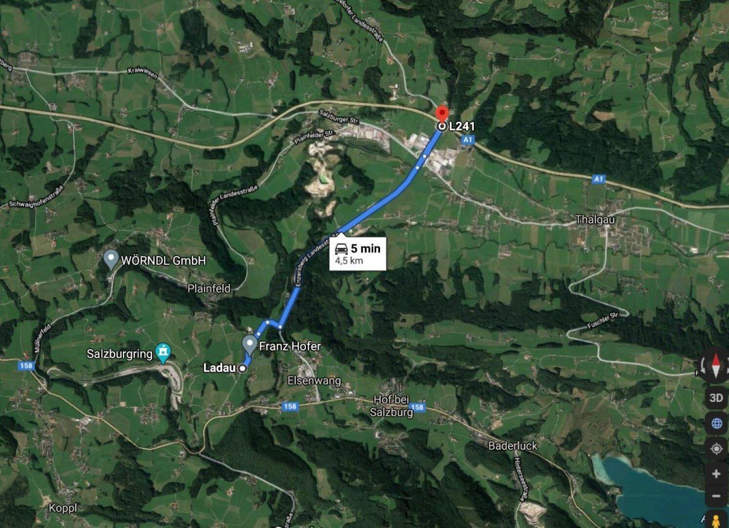 Autobahnanbindung zur A1 Richtung Salzburg oder Wien ca. 5 km entfernt