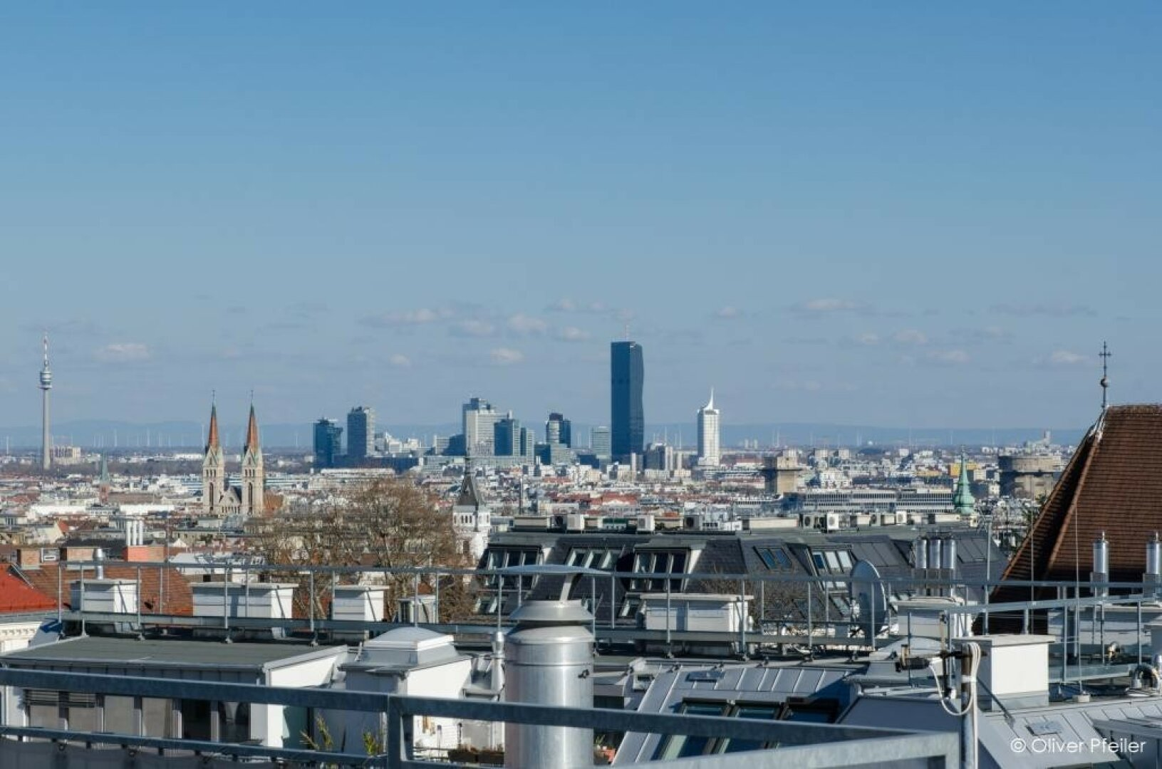Blick Richtung UNO-City/Donauplatte
