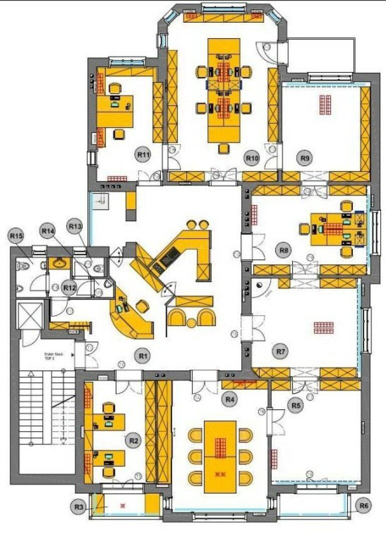 Optimaler Grundriss: zentral begehbare Büros