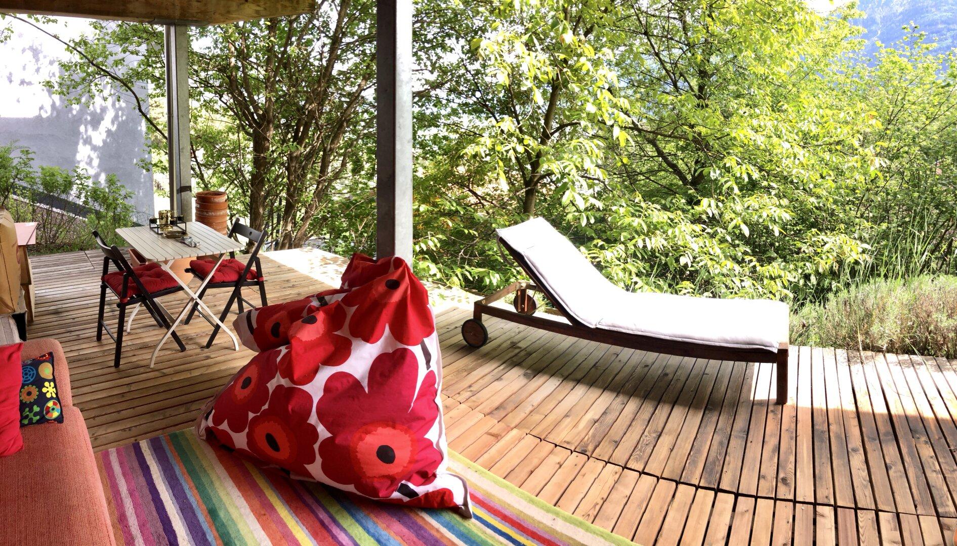 Terrasse zum Relaxen & Wohlfühlen