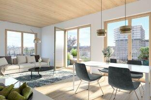 Erstbezug - Zentrumsnah und doch im Grünen - 3-Zimmer Wohnung mit Terrasse im Sonnwendviertel