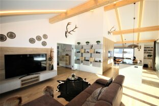 5753 Saalbach / Hinterglemm: Exclusive penthouse apartment 138m² living area, 80m² terrace, beautiful view, 2 underground parking spaces