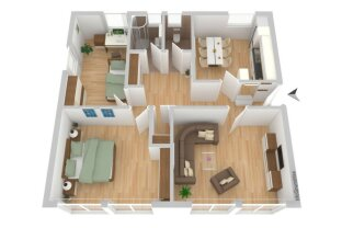 PROVISIONSFREI, 2 Mieten Kaution -  NEUWERTIGE, super aufgeteilte 3 ZIMMER WOHNUNG mit toller Wohnküche