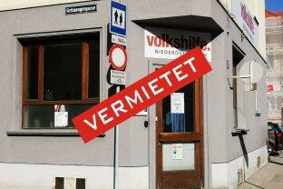 Abteilbares Geschäftslokal mit Innenhof und Parkplatz-Option(en) in frequentierter Lage