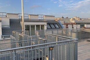 Dachgeschosswohnung inkl. großzügiger Terrasse mit Wienblick in zentraler Lage, Erstbezug, moderne Ausstattung, Top 43