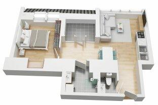 Erstbezug 10/2021  -  Ca. 50 m² DACHWOHNUNG mit Terrasse (TOP 66- 2. DG)