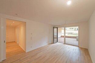 AB 1. APRIL - exklusive 2 Zimmerwohnung mit luxuriöser Ausstattung, Terrasse und Garten (PROJEKT LEOPOLD)