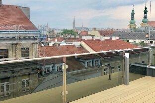 EXZELLENTE 3-Zimmer Dachgeschoß-Wohnung mit Terrasse - Top Lage - Servitenviertel - Roßauer Lände - ERSTBEZUG!