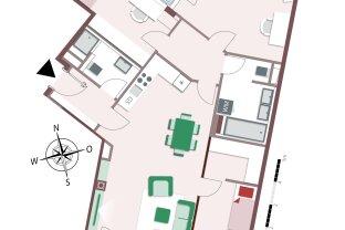 8228 – Südseitige 4-Zimmer-Wohnung mit abgetrennten Privatbereich