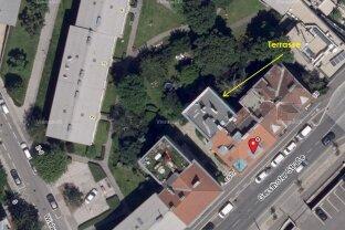 GERSTHOFER COTTAGE: 91 m² Wohnung mit 104 m² Dachterrasse - FERNGRÜNBLICK (Nord) WIENBLICK (Süd)