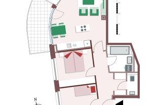 815 – Gemütliche 3-Zimmer-Wohnung mit großem Balkon