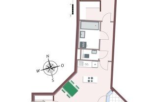 817 – Toll geschnittene 2-Zimmer-Wohnung mit Balkon und viel Stauraum