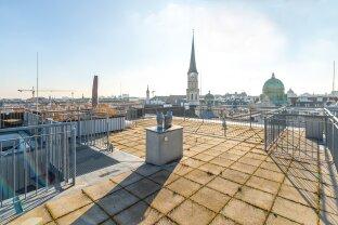 lichtdurchflutetes Penthouse in absoluter Bestlage - Terrasse mit 360° Wien-Blick