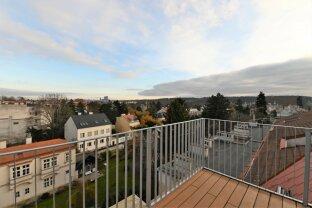 Erstbezug, Dachgeschosswohnung mit traumhaften Blick über die Stadt nähe U4 Hietzing